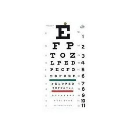 Grafco 1240 Snellen Hanging Eye Chart, 20