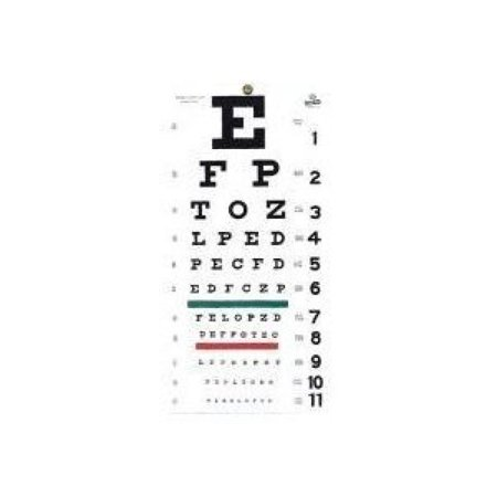 Grafco 1240 Snellen Hanging Eye Chart, 20' Distance, Non-Reflective, Matte Fi... - Star Wars Eye Chart