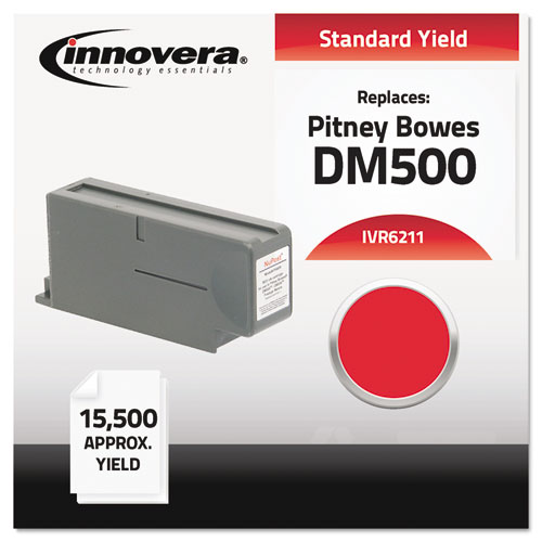 Compatible With 621-1 Postage Meter, 15500 Page-Yield, Red