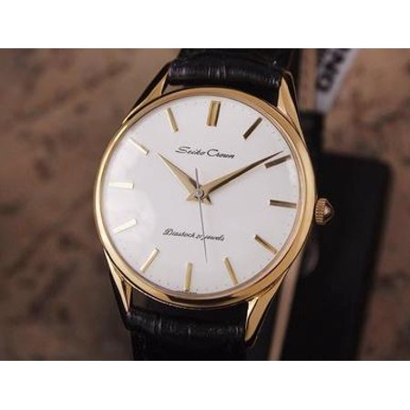Seiko Crown Made in Japan 1960 Gold Plated Manual 35mm Men Dress Watch DSI18