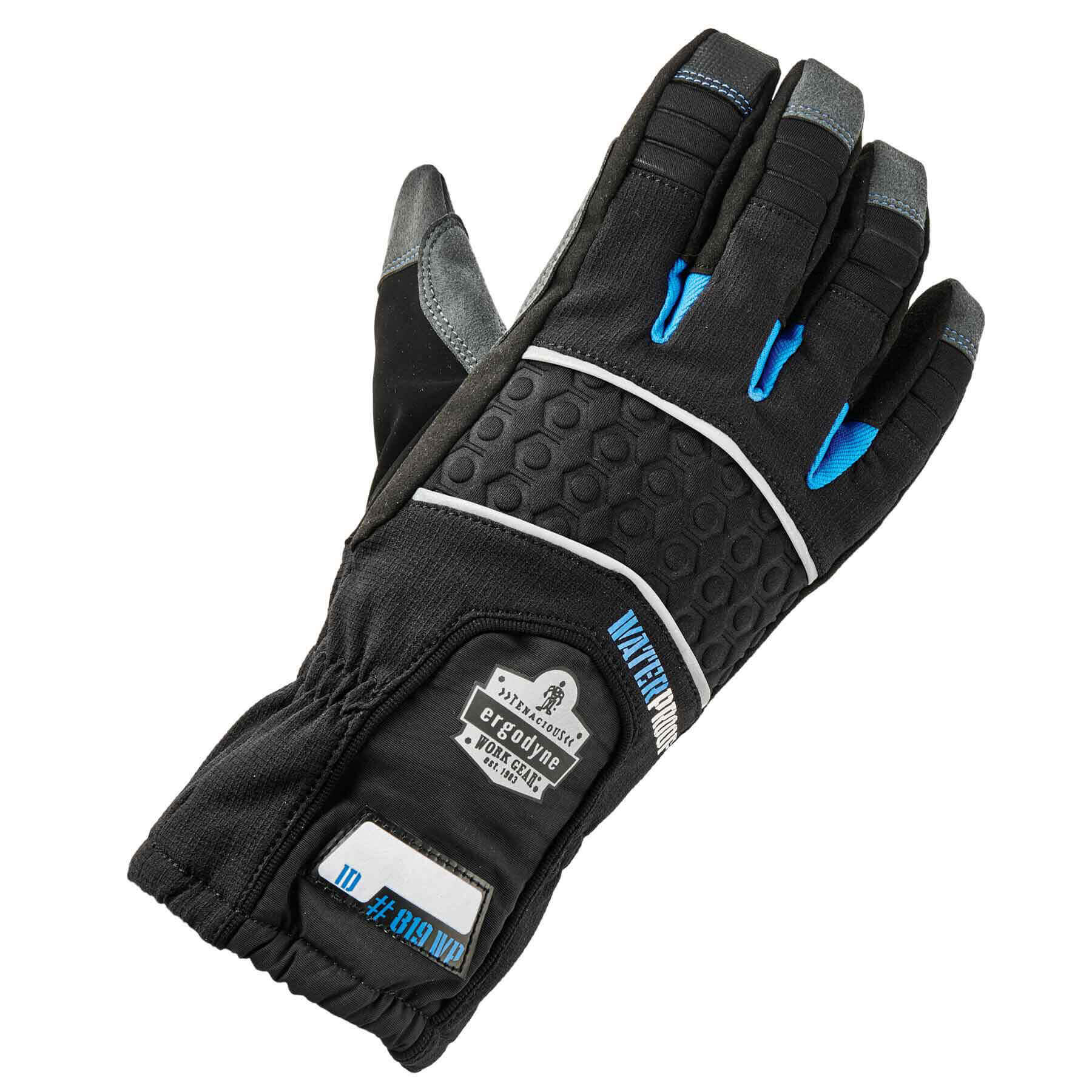 Ergodyne ProFlex 819WP Extreme Thermal Waterproof Insulated Work Gloves, Touchscreen Capable, Black, XL