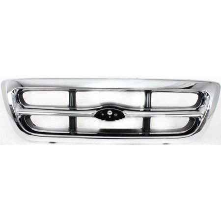 Evan-Fischer EVA17772011904 Grille for Ford Ranger 98-00 Chrome Shell/Painted-Gray Insert 2WD XLT Model Replaces Partslink# FO1200340, FREE 1-year.., By Evan-Fischer Auto Parts 2wd Chrome Grille
