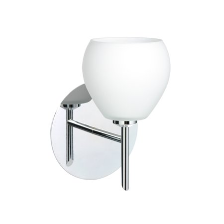 Besa Lighting 1SW-560507 Tay Tay 1-Light Halogen Bathroom Sconce with Opal Matte Glass Shade