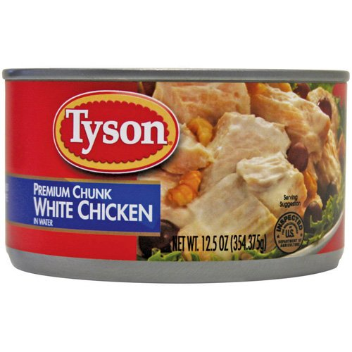Tyson Premium White Chunk Chicken Breast In Water, 12.5 oz