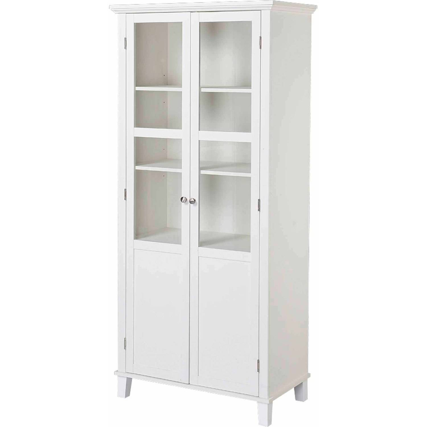 Wooden Storage Cabinets With Doors Homestar 2 Door Storage Cabinet Walmartcom