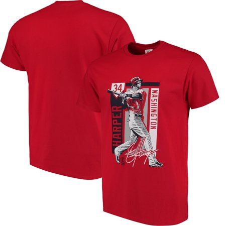 Bryce Harper Washington Nationals Color Block Series Player Graphic T-Shirt - - Mens Player Series Leather