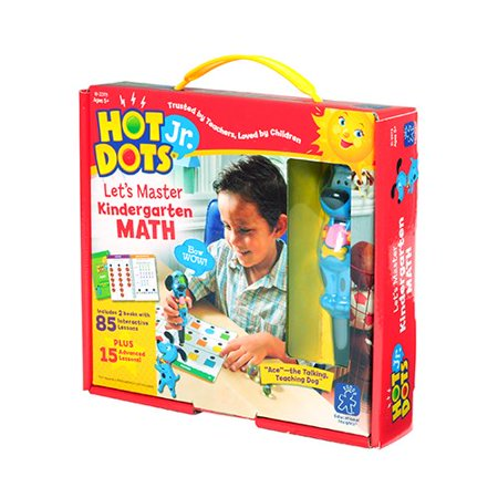 Educational Insights Hot Dots Jr. Let's Master Kindergarten Math Set with Ace Pen (Educational Halloween Games For Kindergarten)