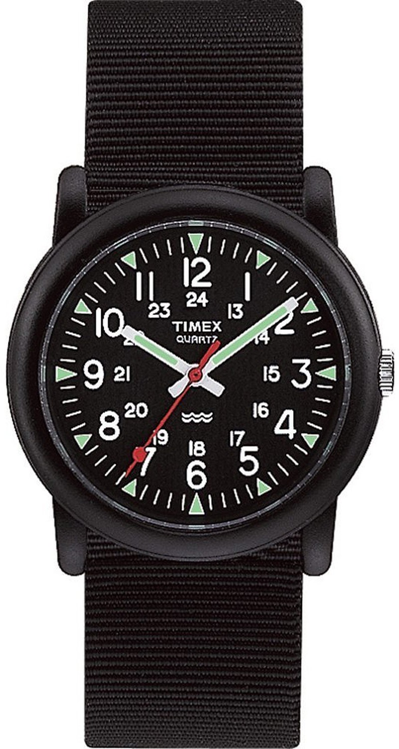 Timex Mens Camper Stainless Steel Case Nylon Strap Black Watch T18581 by Timex
