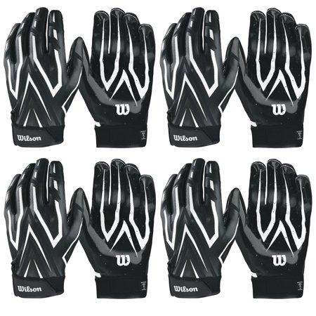 Wilson Adult MVP Clutch Skill Football Running Back Receiver Gloves XL (4 Pairs)