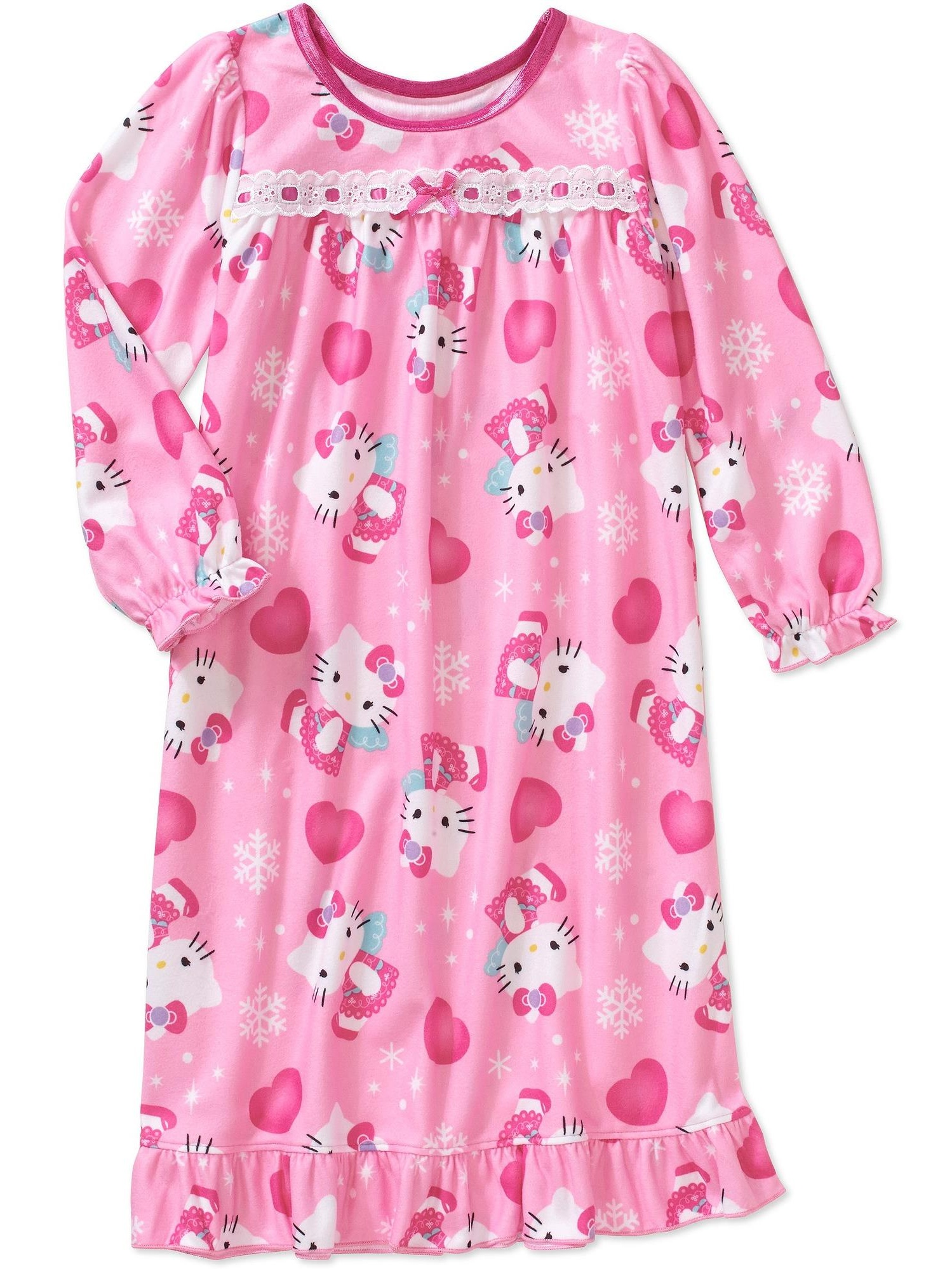 Baby Girls 12m-4t Flannel Granny Style Nightgown Pajama