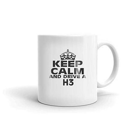 HUMMER H3 Keep Calm and Drive Coffee Tea Ceramic Mug Office Work Cup Gift 11 oz ()
