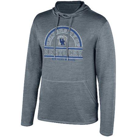 Kentucky Wildcats Cheerleading (Men's Gray Kentucky Wildcats Impact Long Sleeve Hooded T-Shirt )
