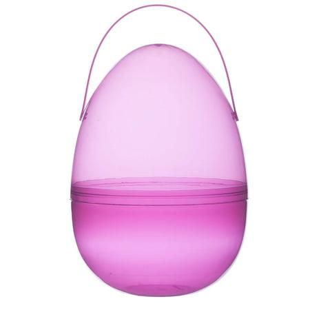 """Giant Fillable Easter Egg, Pink Plastic, Jumbo Size 12"""" High x 7"""" Diameter"""