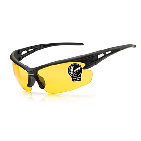 Unisex Sport Glasses Windproof Ultraviolet-proof Explosionproof Cycling Sunglasses for Outdoor Activities Yellow night (Ultraviolet Glasses)