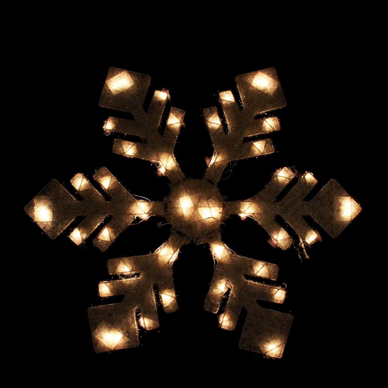 "40"" Lighted Winter White Snowflake Christmas Outdoor ..."