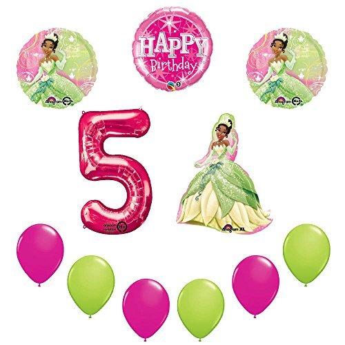 Disney Princess Tiana 5th Birthday Party Balloon sullies decorations