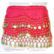 Coin Belly Dancing Wrap: Hot Pink