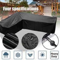 Outdoor Garden Furniture Cover, Extra Large Patio Furniture Cover for Rattan Wicker Furniture Sofa set, Waterproof L Shape 106''x79''x35''