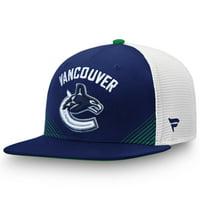Vancouver Canucks Fanatics Branded Iconic Spring Emblem Adjustable Snapback Hat - Blue/White - OSFA