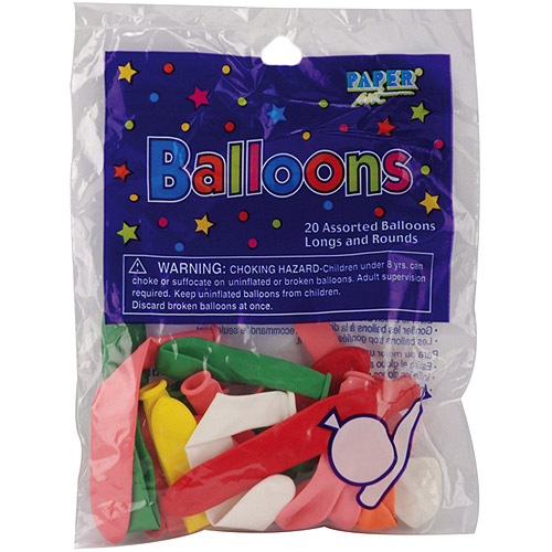 Balloon Long and Round Assortment, 20-Pack
