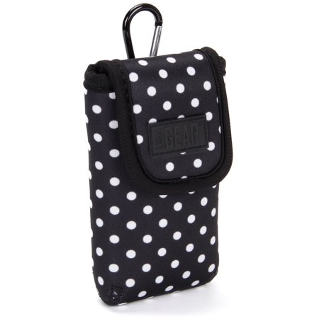 USA Gear Sunglasses and Eyeglasses Case - Clip On Sunglasses Case Fits Designer Glasses & Shades - Polka (Eyeglasses Shades)