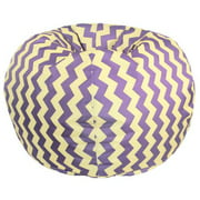 Purple/ Yellow Chevron Bean Bag Chair 27 inch