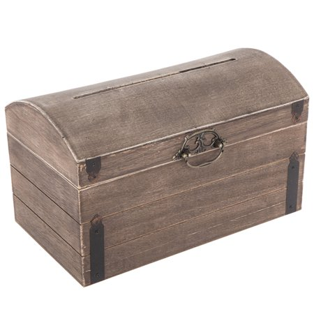 Wooden Card Box (Wedding Wooden Brown Wedding Card Box Gift Keepsake )