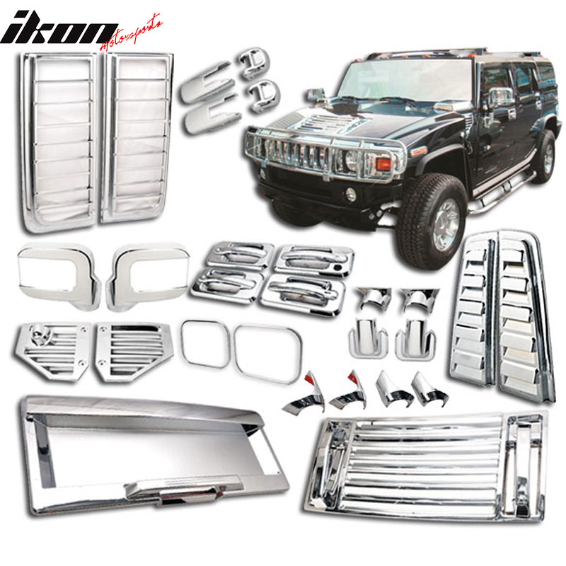 06-09 Hummer H2 ABS Chrome Door Handle Tail Lamp Mirror V...