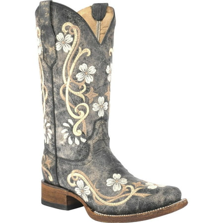 Circle G Women's Honey Cowhide Cowgirl Boot Square Toe -