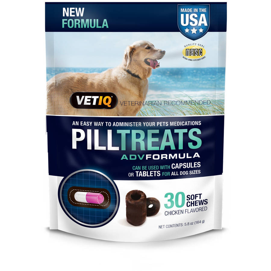 VetIQ Pill Treats for Dogs, 30-Count