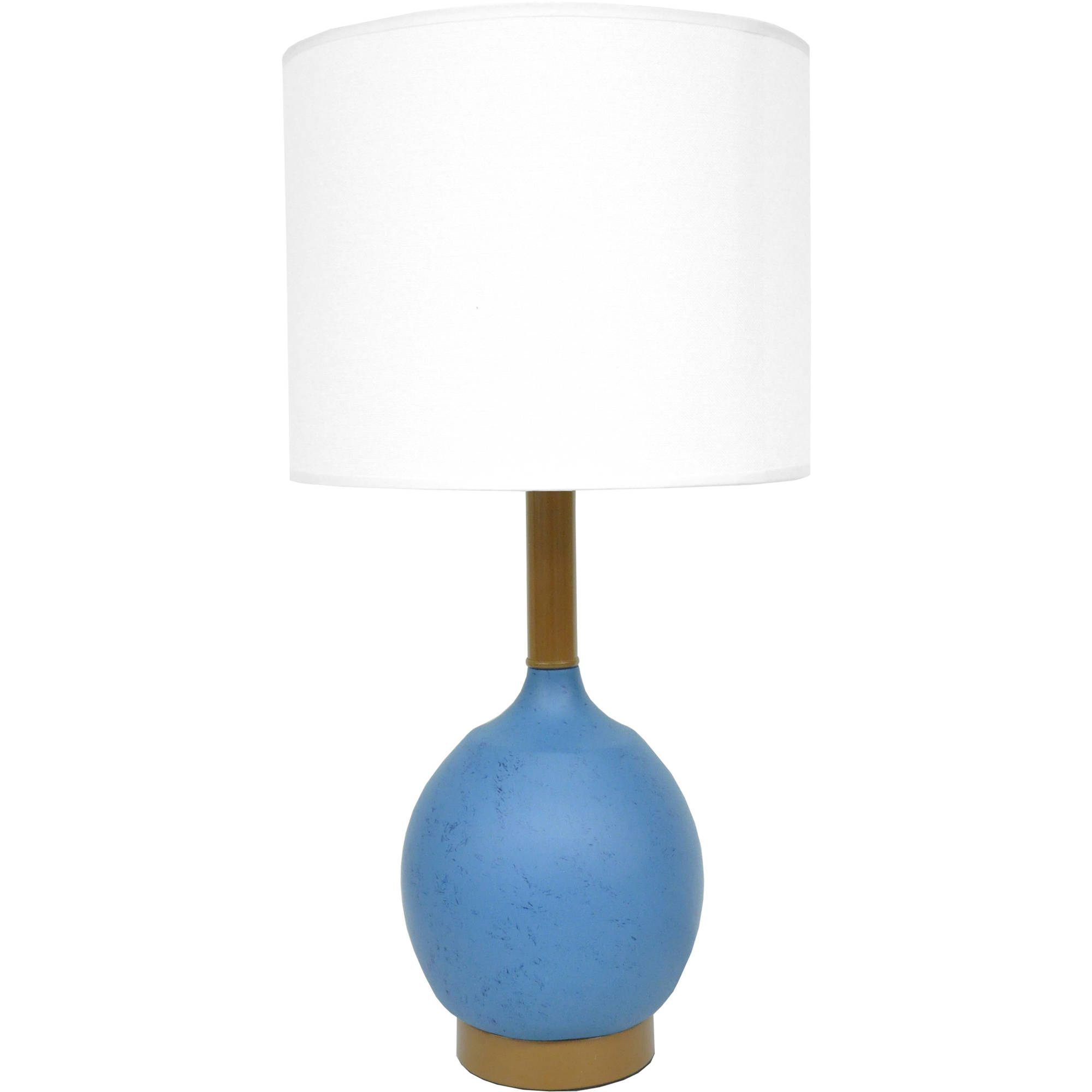 Mainstays Modern Table Lamp, Blue by Idea Nuova