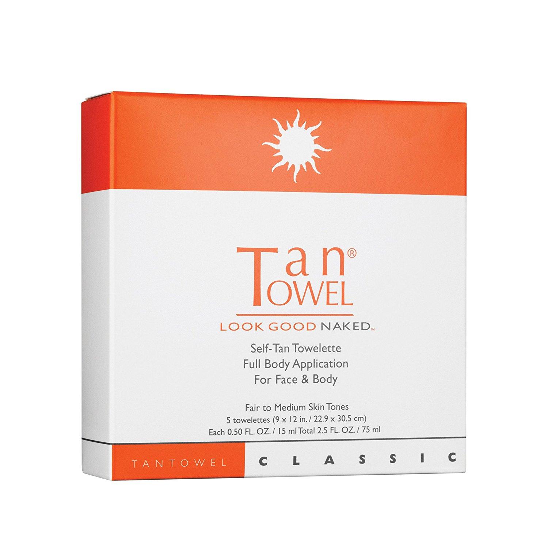 TanTowel Total Body Self-Tan Towelette, 5 Ct.