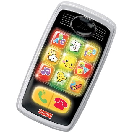 Fisher-Price Laugh & Learn Smilin' Smart Phone, Black, Light-up, interactive learning fun By (Fisher Price Fun 2 Learn Learning Dj)