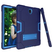 Allytech Samsung Galaxy Tab S4 10.5 2018 Case, [Heavy Duty] Rugged Hybrid Protective Kids Proof Case Cover Build in Kickstand for Samsung Galaxy Tab S4 10.5 inch SM-T830/T835/T837 (NavyBlue/Rosegold)