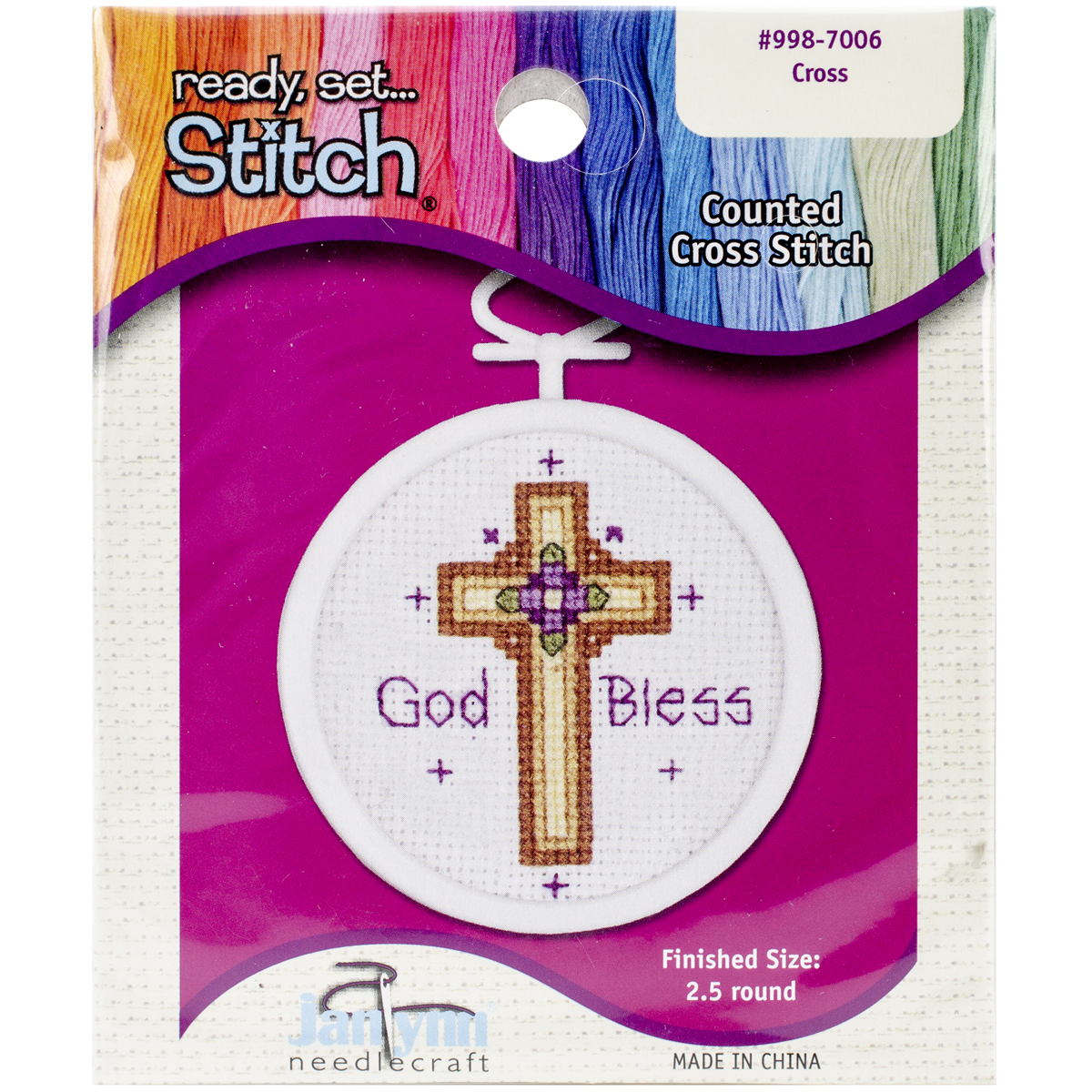 "Janlynn Ready, Set...Stitch ""Cross"" Counted Cross Stitch Kit with Frame"