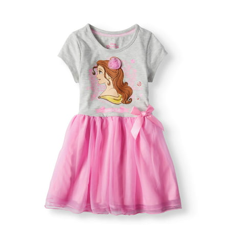 Belle Short Sleeve Tutu Dress (Little Girls) (Disney Bell Dress)