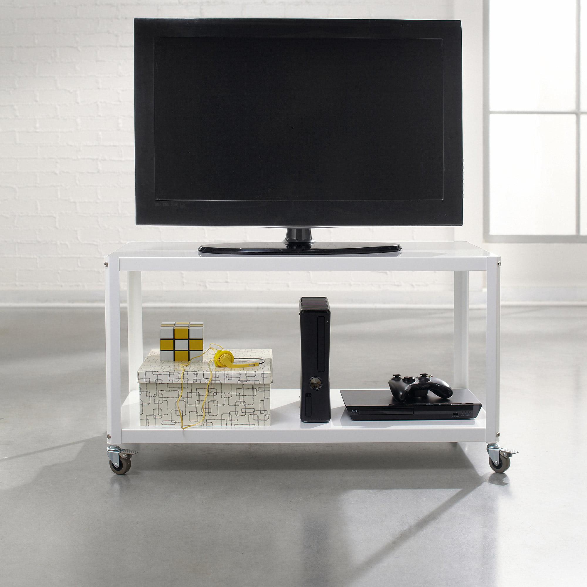 Sauder Tv Cabinet Sauder Soft Modern Multi Cart Tv Stand For Tvs Up To 37 Multiple