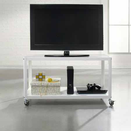 Sauder Soft Modern Multi-Cart TV Stand for TVs up to 37″, Multiple Colors