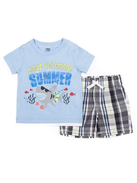 a8769f01d Product Image Little Lad Short Sleeve Graphic T-shirt & Drawstring Cargo  Short, 2pc Outfit Set