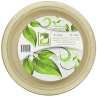 """Earth's Natural Alternative Unbleached Paper Dinner Plates, 10"""", 50 Count"""