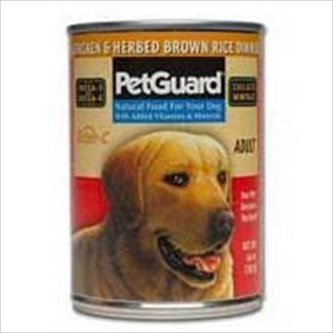Pet Guard Adult Dog Canned Chicken Herbed Brown Rice 14 Oz