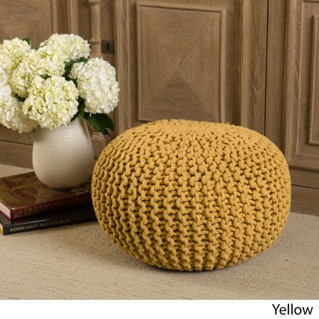 Remarkable Christopher Knight Home Moro Cotton Knit Fabric Ottoman Pouf By Frankydiablos Diy Chair Ideas Frankydiabloscom