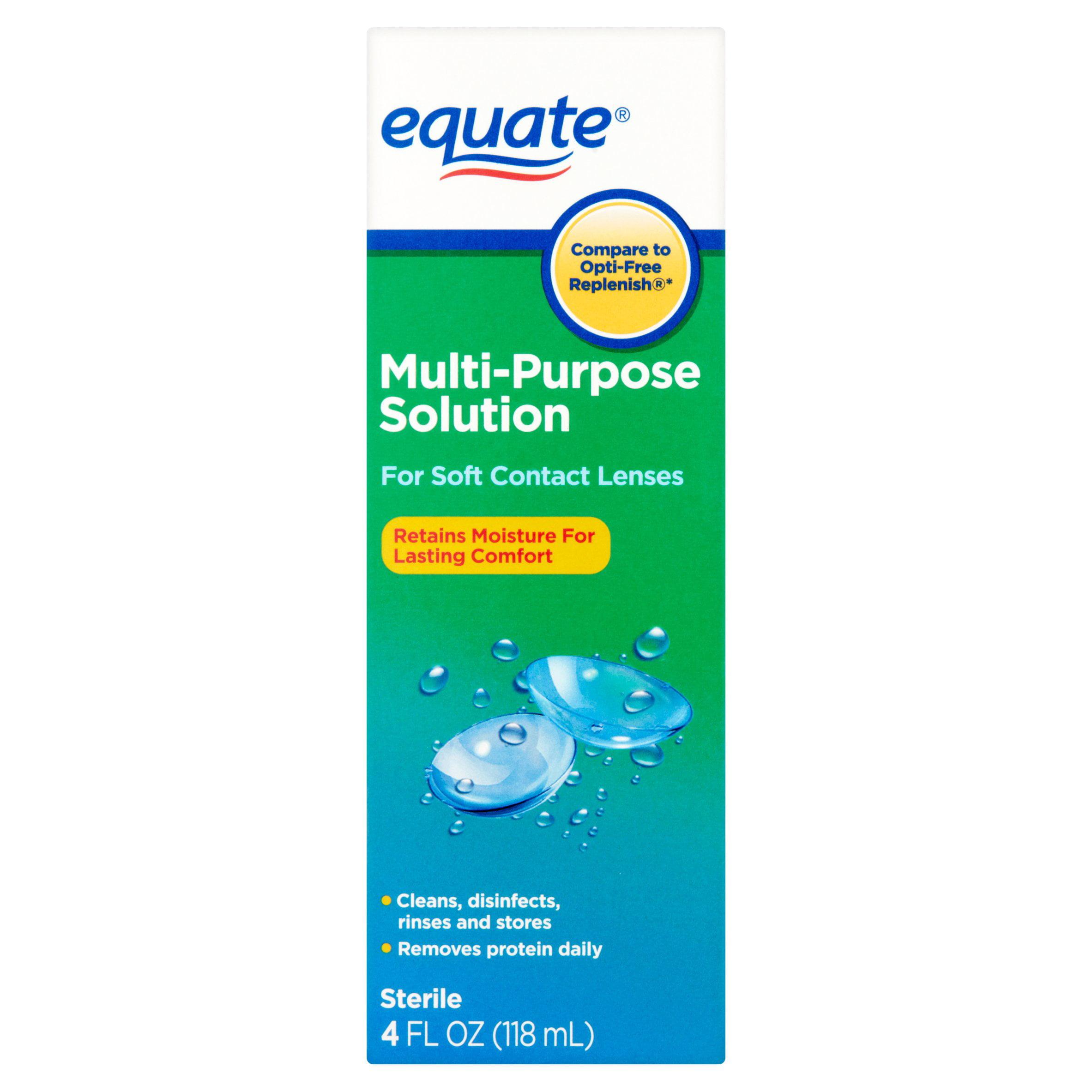 Equate Multi-Purpose Contact Lense Solution, 4 Oz