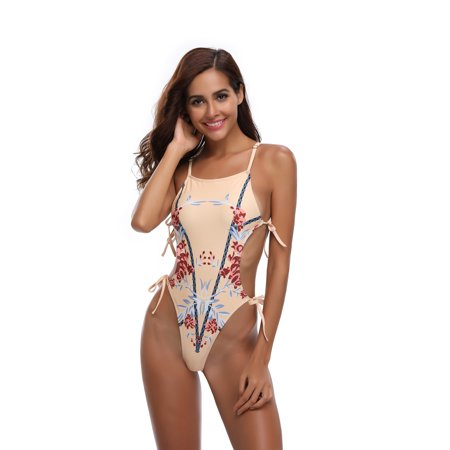 e5fd9378c1 Sexy Dance - S-XL Women Sexy Braces Bandage Monokini Swimwear Swinsuit Beachwear  Bathing Suit PUSH-UP Padded Hollow out Floral Print Swimming Costume ...