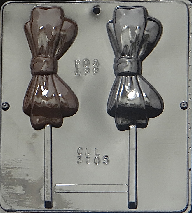 Click here to buy 3305 Bow Tie Lollipop Chocolate Candy Mold.