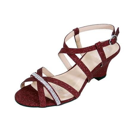 7ba66b21123 FLORAL Joanne Women Extra Wide Width Chic Rhinestone Strappy Wedge Party  Heeled Sandals - Walmart.com