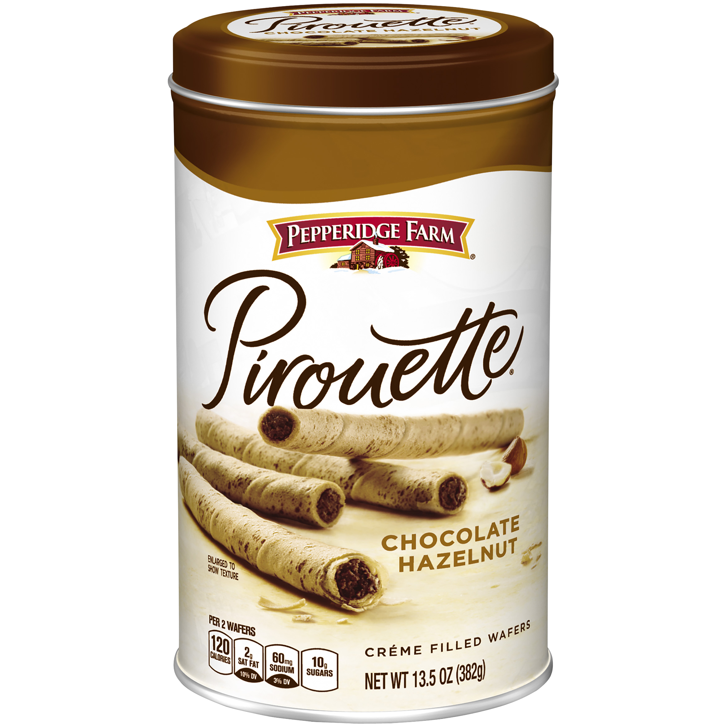 Pepperidge Farm�� Pirouette�� Chocolate Hazelnut Cr��me Filled Wafers 13.5 oz. Canister