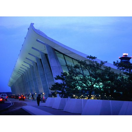Dulles International Airport at Night, Washington Dc, USA Print Wall Art By Rick Gerharter (Dulles International Airport)
