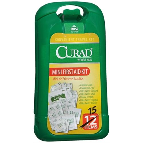 Curad Mini First Aid Kit 1 Each (Pack of 2)