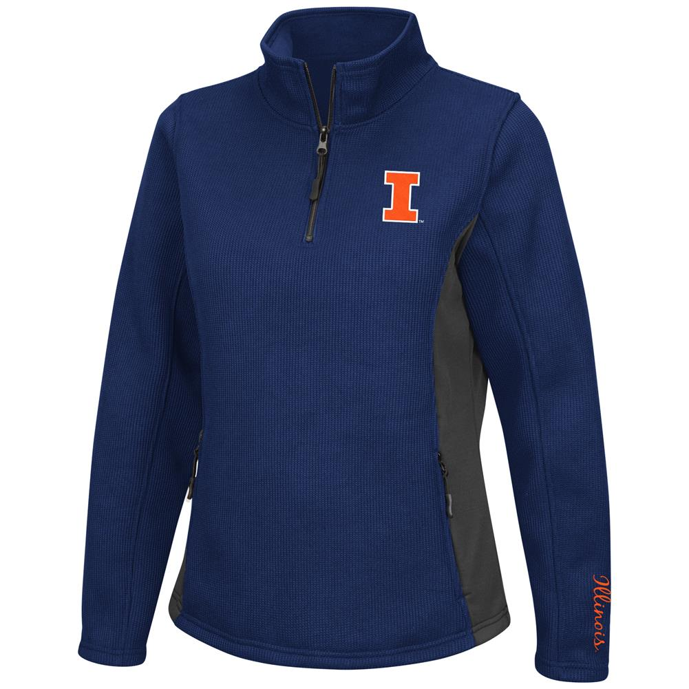 Ladies High Bar University of Illinois Quarter Zip Jacket by Colosseum